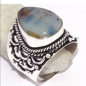 Jewelry - New Montana agate Sterling Silver 925 8.5